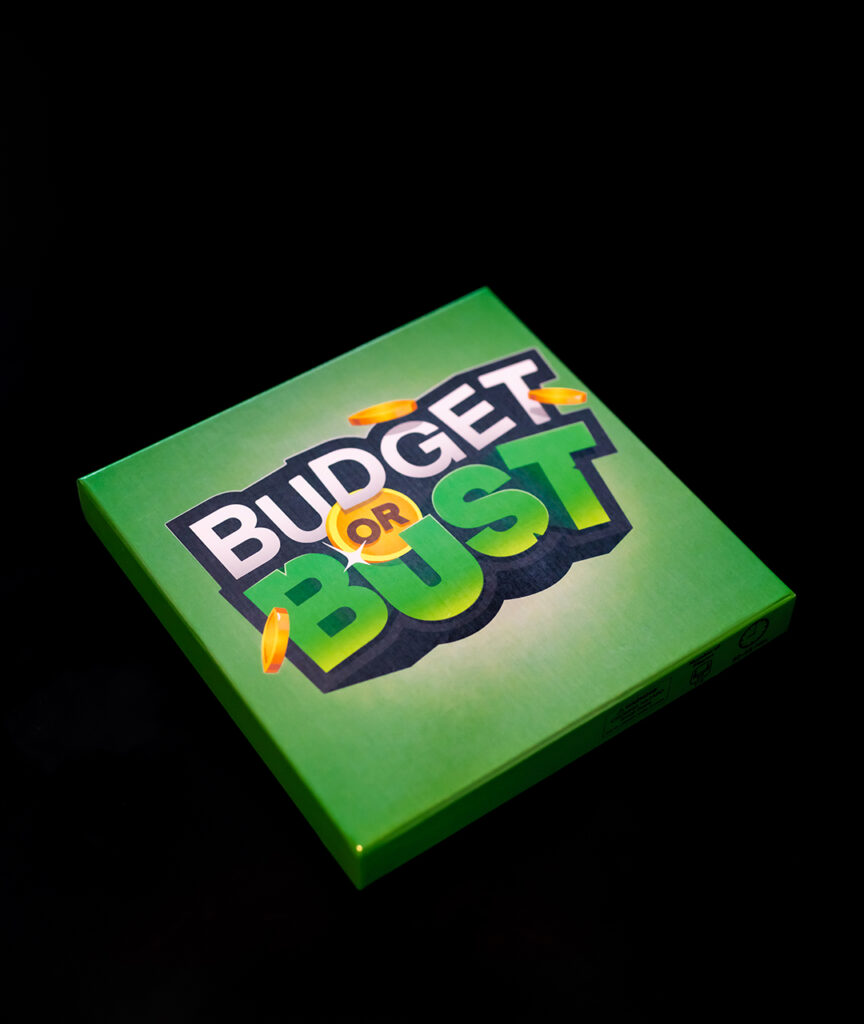 Top of Budget of Bust game board box